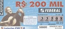 Brasil - 2010 - 7 DE OUTUBRO DIA DA COMPOSITOR BRASILEIRO - HOMENAGEM A DORIVAL CAYMMI - Billetes De Lotería