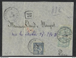 CUT 9.5X12cm - From Registered Item France Levant Beyrouth Lebanon Liban 1906 - Líbano