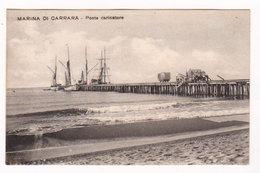 CPA CARRARA : Marina Di Carrara - Ponte Caricatore - Circulée En 1915 - Carrara