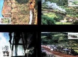 TRANSKEI, 1989, Trains,  Mint Maxicards, Nr(s.) 78-81 - Transkei