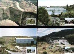 TRANSKEI, 1986, Hydro-electric Power,  Mint Maxicards, Nr(s.) 38-41 - Transkei