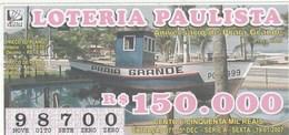 Brasil - 2007 - ANIVERSARIO DE PRAIA GRANDE - PRAÇA LIONS - Billetes De Lotería