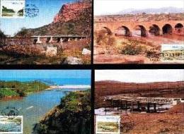 TRANSKEI, 1985, Bridges, Mint Maxicards, Nr(s.) 18-21 - Transkei