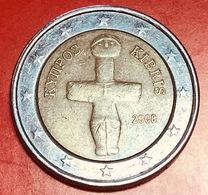 CIPRO - 2008 - Moneta - Idolo Cruciforme Del Periodo Calcolitico (3000 A.C.) - Euro - 2.00 - Cyprus
