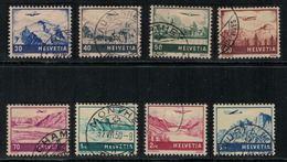 Suisse // Schweiz // Switzerland // Poste Aérienne  // 1941 // Timbre No. 27 à 34 Oblitéré - Poste Aérienne