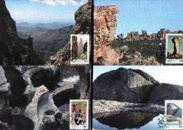 REPUBLIC OF SOUTH AFRICA , 1986, Rocks,  Mint Maxicards, Nr(s.) 51-54 - Zuid-Afrika (1961-...)