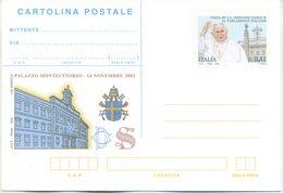 ITALIA - INTERO POSTALE 2002 - PAPA GIOVANNI PAOLO II - NUOVA - 6. 1946-.. Repubblica