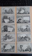 Lot De 10 Chromo Thème La Feuille De Papier Dos Vierge - Autres