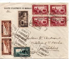 Maroc: Oblitération Daguin Sur Enveloppe Entière : Marrakech : Venez Hiverner 1937 - Maroc (1956-...)