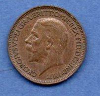 Grande Bretagne  - 1 Farthing 1934  -  Km # 825  - état  TTB - 1902-1971 : Monnaies Post-Victoriennes