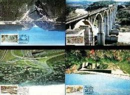 REPUBLIC OF SOUTH AFRICA , 1984, Bridges, Mint Maxicards, Nr(s.) 14-17 - Zuid-Afrika (1961-...)