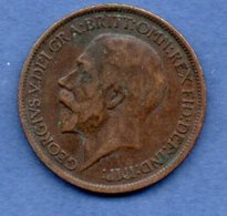 Grande Bretagne  - 1/2 Penny 1917 -  Km # 809  - état  TB+ - 1902-1971 : Monnaies Post-Victoriennes