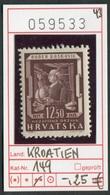 Kroatien - Hrvatska - Croatie - Michel 149 - ** Mnh Neuf Postfris - Kroatien