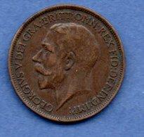 Grande Bretagne  - 1/2 Penny 1917 -  Km # 809  - état  TB+  -  Petit Coup Tranche - 1902-1971 : Monnaies Post-Victoriennes