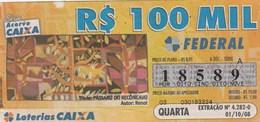 Brasil - 2008 - TITULO PASSARO DO RECONCAVO - AUTRO RENOT - Billetes De Lotería