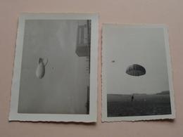 """Para """" B """" April '63 > Ballonsprong SCHAFFEN - Anno 1963 ( Zie Foto's Voor Detail ) 2 Stuks ! - Guerra, Militari"""