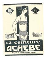 Carte Publicitaire Ceinture Achebé - Cartes