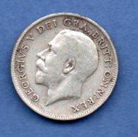 Grande Bretagne  - 6 Pence 1916 -  Km # 815  - état  TB+  - - 1902-1971 : Monnaies Post-Victoriennes