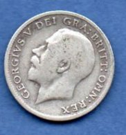 Grande Bretagne  - 6 Pence 1911 -  Km # 815  - état  TB  - - 1902-1971 : Monnaies Post-Victoriennes
