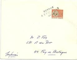 LOIRE ATLANTIQUE - Dépt N° 44 = FAY De BRETAGNE 1967 = RETOUR ENVOYEUR N° 4724 Sur Préo N° 124 + Cachet A8 - Manual Postmarks
