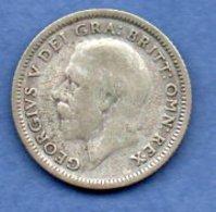 Grande Bretagne  - 6 Pence 1926 -  Km # 815a2  - état  TB  - - 1902-1971 : Monnaies Post-Victoriennes