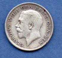 Grande Bretagne  - 6 Pence 1914 -  Km # 815  - état  TB + - 1902-1971 : Monnaies Post-Victoriennes