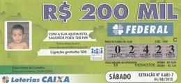 Brasil - 2012 - DESAPARECIDOS - REDESAP (2 BILLETES) - Billetes De Lotería