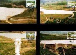 CISKEI, 1989, Dams,  Mint Maxicards, Nr(s.) 72-75 - Ciskei