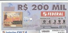 Brasil - 2012 - TITULO TRAÇADOS DA CIDADE - ZELIO VISCONTI - Billetes De Lotería