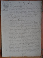 Simon Cordival à Jouy, Loue Des Terres Dans Les Communes De Troarn,Dives,Merville,Cabourg,Varaville,Amfréville..... - Manuscrits