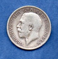 Grande Bretagne  - 6 Pence 1918 -  Km # 815  - état  TB + - 1902-1971 : Monnaies Post-Victoriennes