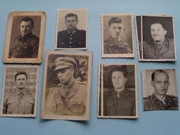 Lotje Formaat PASFOTO'S ( 8 Stuks + 1 Groter Formaat ) Anno 19?? ( Zie Foto's Voor Detail ) ! - Guerre, Militaire