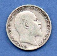 Grande Bretagne  - 6 Pence 1910 -  Km # 799  - état  TB + - 1902-1971 : Monnaies Post-Victoriennes