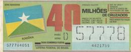 Brasil - 1989 - BANDEIRAS RONDONIA - Billetes De Lotería