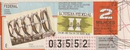 Brasil - 1987 - LOTERIA FEDERAL DOIS SECULOS DE HISTORIA - Billetes De Lotería