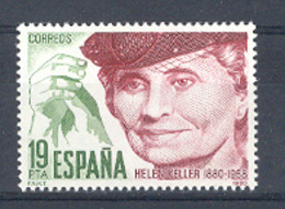 Espagne 1980. Hellen Keller Ed 2574 Yv 2220 (**) - 1931-Aujourd'hui: II. République - ....Juan Carlos I