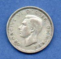 Grande Bretagne  - 6 Pence 1942 -  Km # 852 - état  TTB - 1902-1971 : Monnaies Post-Victoriennes
