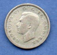 Grande Bretagne  - 6 Pence 1939 -  Km # 852 - état  TTB - 1902-1971 : Monnaies Post-Victoriennes