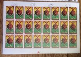 Nord Corea / North Korea 1976, Medal Olympic Games Montreal, Complete Sheet (o), Used - Korea (Noord)