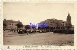 Saint-Arnaud - Place Du Théatre Et Les Ecoles - 1937 - Algeria