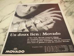 ANCIENNE PUBLICITE UN DOUX LIEN MOVADO  1968 - Gioielli & Orologeria