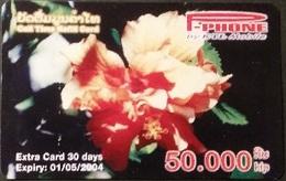 Mobilecard Laos - Blumen, Flowers (12) - Laos