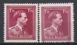 BELGIË - OBP - 1950 - Nr 832 (NUANCE) - MNH** - - 1936-1957 Col Ouvert