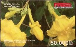 Mobilecard Laos - Blumen, Flowers (13) - Laos