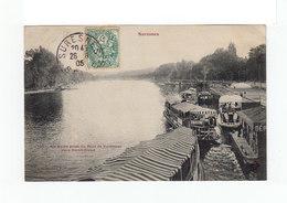Sur Carte Postale Type Blanc CAD Suresnes 1905. (1058x) - Marcophilie (Lettres)
