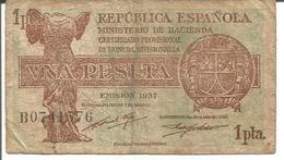 SPAIN (CERTIFICADO PROVISIONAL DE MONEDA DIVISIONARIA) 1 PESETA 1937 - [ 3] 1936-1975 : Regency Of Franco