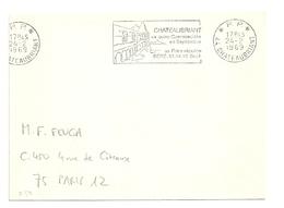 LOIRE ATLANTIQUE - Dépt N° 44 = CHATEAUBRIANT 1969 = FLAMME PP Codée =  SECAP  Illustrée 'quinz. Commerciale Septembre' - Postmark Collection (Covers)