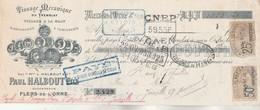 Lettre Change Illustrée 31/1/1924 HALBOUT Tissage Mécanique Du Tremblay FLERS DE L'ORNE  - Thuillier Joinville - Lettres De Change