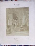 R.ERNST, Salon 1901, Temple Souterrain , Photo NEURDEIN ( Tampon) Signée Par Le Peintre R.ERNST - Photos