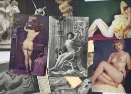 Lot 1581 De 10 CPA-CPSM Nu Féminin Femme Nue érotisme Déstockage Pour Revendeurs Ou Collectionneurs - Cartes Postales